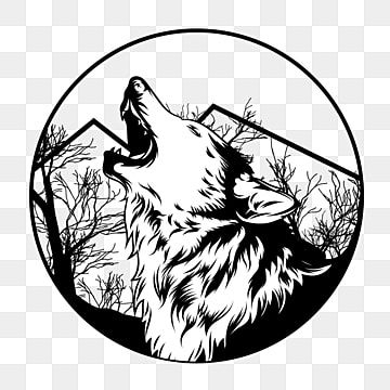 Lone Wolf Vector Illustration Wolf Clipart Lone Wolf Png And Vector With Transparent Background For Free Download Wolf Clipart Wolf Illustration Lone Wolf Tattoo