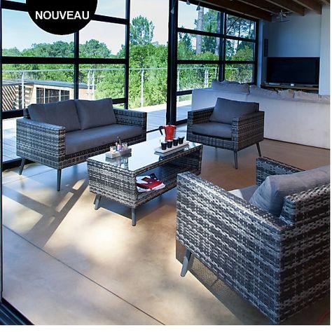 Beautiful Salon De Jardin Aluminium Camif Contemporary - Home ...