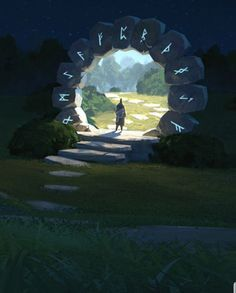 Atmospheric Fantasy Artworks — Time portal by Thomas Stoop character Rpg art concept art keane art schmidt Fantasy Concept Art, Fantasy Artwork, Environment Concept, Environment Design, Fantasy Places, Fantasy World, Fantasy Landscape, Landscape Art, Landscape Concept