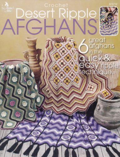 Desert Ripple Afghans Annies Attic Crochet Pattern Booklet 873712