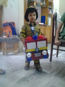 My Son Dressed As Fireman For A Fancy Dress Competition His School