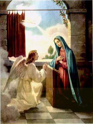 La Anunciacion Angel Gabriel Y Maria Oraciones Angel Gabriel