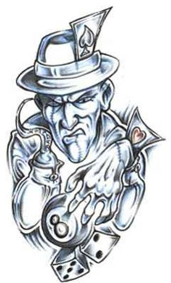 Cartoon Gangster Tattoo Outlines - VIRAL TATTOO