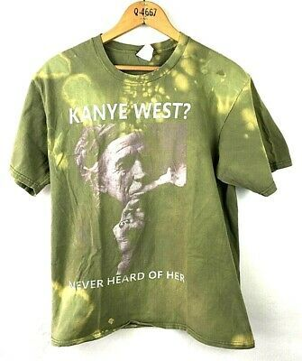 Details About Kanye West Never Heard Of Her Concert Rap R B T Shirt Size M In 2020 Movie T Shirts Rock T Shirts Tour T Shirts