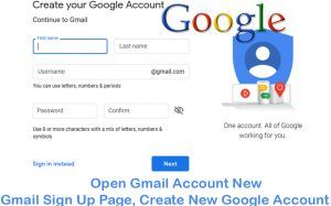Open Gmail Account New Gmail Sign Up Page Create New Google Account Techsovibe Gmail Sign Up Gmail Sign Sign Up Page