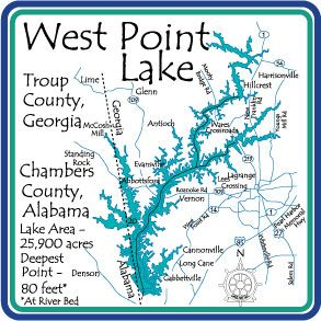 West Point Lake Map Image result for west point lake map | Lake art | Lake art, Bullet