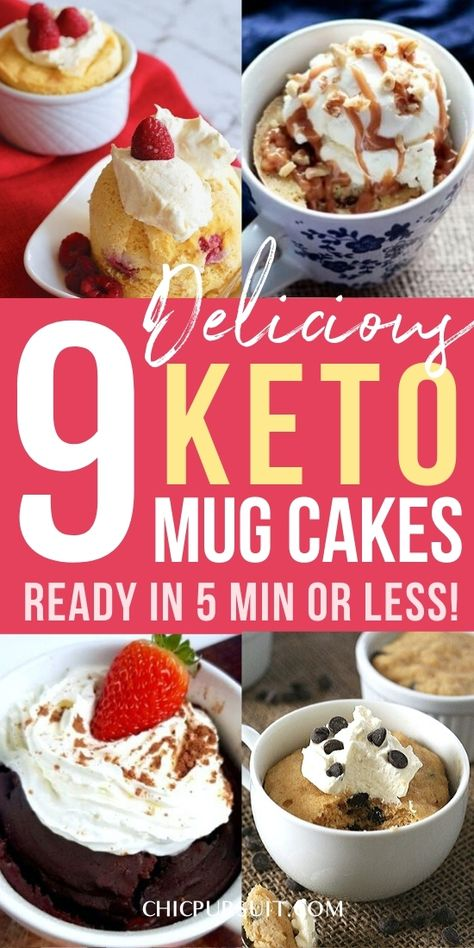 Best keto mug cake recipe ideas: Keto mug cake easy 3 ingredient ideas! If you're looking for delicious keto dessert recipes  keto dessert easy, these keto mug cake microwave treats are perfect for you. They'll be ready in under 5 min, and they're great for the keto diet, ketogenic diet and as low carb desserts. Recipes include keto mug cake coconut flour, keto mug cake chocolate, keto mug cake almond flour and more! #ketomugcake #ketodessert #easy #mugcake #recipe #keto #ketodiet #ketogenic