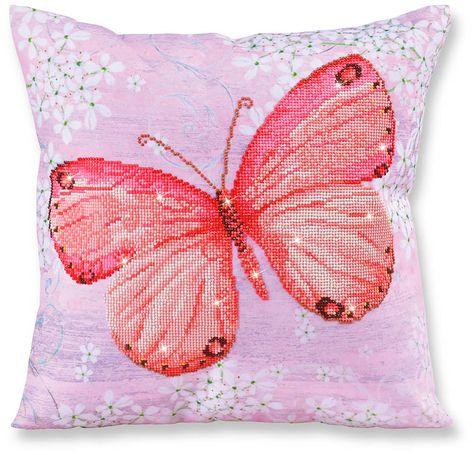 Sharon Cuscini.Papillon Abricot Farfalla Albicocca Cuscino Cuscino Decorativo