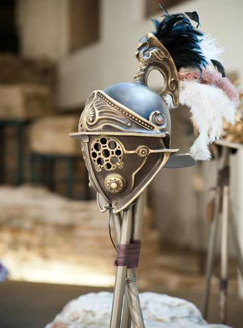 Gladiator Helmet Replica Larp Helmet with by BirdArtBulgaria