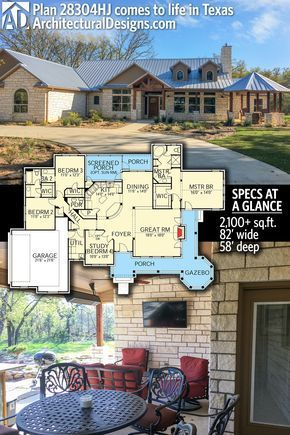 Architectural Designs House Plan 28304hj Shown Client Built In Texas Gives You 3 4 Beds 2 5 Architectural Design House Plans House Plans Country House Plan