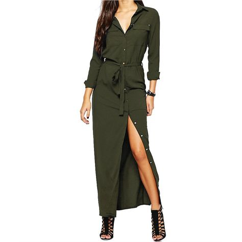 109c21a5ef ZANZEA Chic Long Sleeve Buttons Side Split Denim Maxi Shirt Dress Shopping  Online - NewChic | Women's Apparel and other Products in 2019 | Maxi shirt  dress, ...