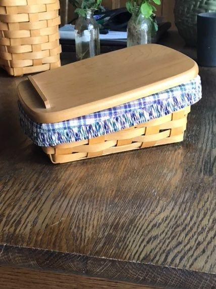 NEW Longaberger OTE Orchard Park Plaid Fabric Liner 4 Your Large Foyer Basket