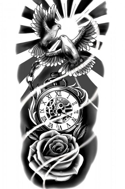 Diskrete Tattoos, Watch Tattoos, Celtic Tattoos, Tattoo Drawings, Tribal Tattoos, Tattoos For Guys, Clock Tattoos, Portrait Tattoos, Polynesian Tattoos
