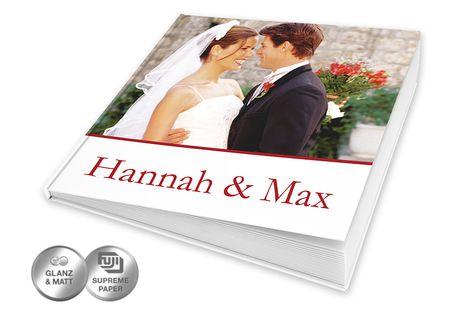 Quadratisches Echtfotobuch im Format 30x30 online gestalten