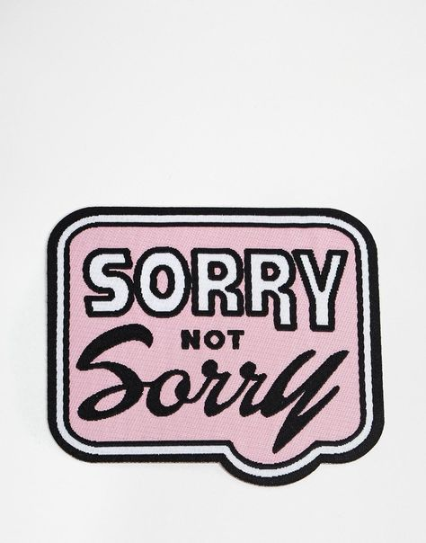Image 2 ofOhh Deer Sorry Not Sorry Iron On Patch