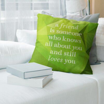 East Urban Home Faux Gemstone Love And Friendship Quote Linen Pillow Quote Pillow Covers True Beauty Quotes Discover Quotes