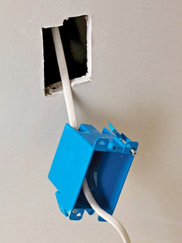 How To Install An Electrical Box In A Finished Wall Electrical