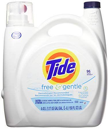 Tide Free Gentle He Liquid Laundry Detergent Unscented 4 43 L 96 Loads Review Liquid Laundry Detergent Laundry Detergent Tide Free And Gentle