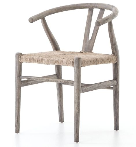 Gradie Indoor Outdoor Dining Chair Weathered Gray Wicker Dining Chairs Patio Dining Chairs Wood Dining Chairs