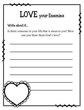 Matthew 5 Love Your Enemies Bible Mazes Your Class Is Going To