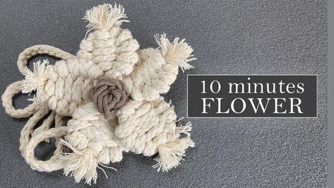 DIY Macrame Flower. 5-10 Minutes Flower. Trilobite Knot Tutorial. #macrameflower