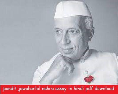 Pandit Jawaharlal Nehru Essay In Hindi Pdf Download Children S Day School Child Par 10 Line Mera Priya Neta