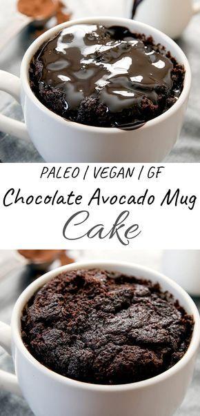 Flourless Chocolate Avocado Mug Cake Paleo Gluten Free Vegan