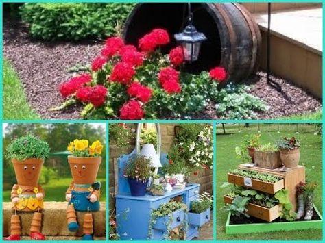 Diy Garden Decor 35 Cheap And Easy Ideas Youtube
