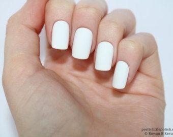 Matte White Short Square Nails Nail Designs Nail Art Nails