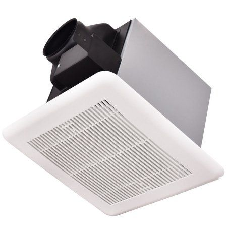 Ghp Classic White Galvanized Stainless Steel 100cfm Ceiling Wall Bathroom Exhaust Fan Bathroomre Wall Mounted Exhaust Fan Bathroom Ventilation Fan Exhaust Fan