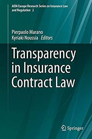 Download Transparency In Insurance Contract Law Aida Europe