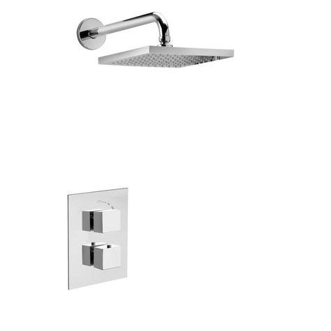 Latoscana Quadro Chrome 1 Handle Shower Faucet With Valve Quopt1cr