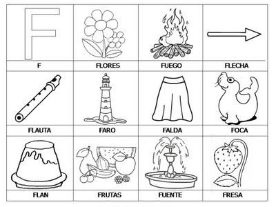 Resultado De Imagen Para Dibujos Para Colorear Letra F Actividades De Letras Abecedario Para Ninos Letra F