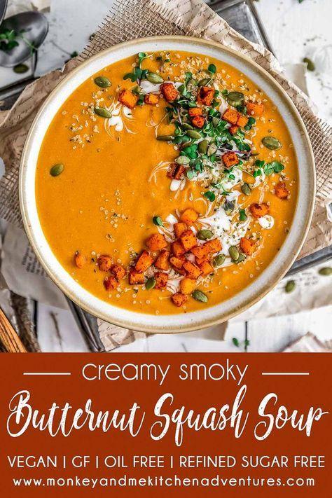 Creamy Smoky Butternut Squash Soup
