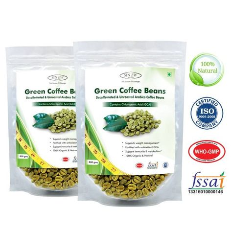 Green Coffee Beans Decaffeinated Unroasted Arabica Coffee