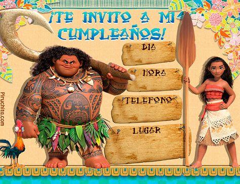 Invitaciones De Cumpleaños Princesa Vaiana Moana Gratis