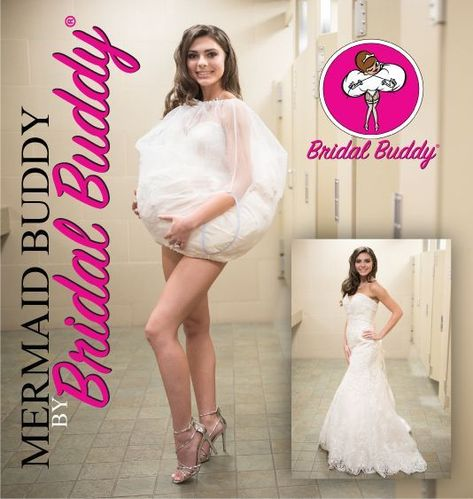 NEW!! Mermaid Buddy by Bridal Buddy®️️️️ for Fit and Flair, mermaid and trumpet style gowns!  #AsSeenOnTv #weddingdress #weddinggown #bridegifts #bride #weddingaccessories #weddinggifts #bridalaccessories