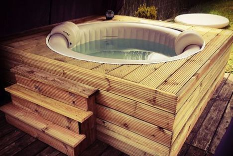 How To Dress Your Inflatable Spa Find 10 Dressing Ideas For Your In 2020 Whirlpool Garten Aufblasbar Whirlpool Garten Whirlpool Terrasse