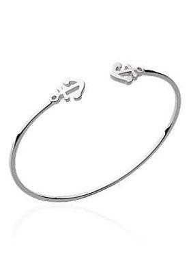 bracelet ancre femme argent