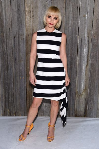 Actor Christina Ricci attends the Calvin Klein Collection during New York Fashion Week.