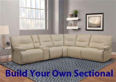 Spartacus Build Your Own Sectional With Power Headrests And Usb Ports In Oyster Fabric By Parker House Mspa Byo Oys Reclining Sectional Build Your Own Sectional Soft Seating