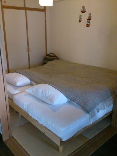 マンションldkに隣接する中和室の使い方 4 5畳和室ベッドに4人で寝て1年半 4人家族の3ldkインテリア 楽天ブログ 和室 ベッド 和室 寝室 レイアウト