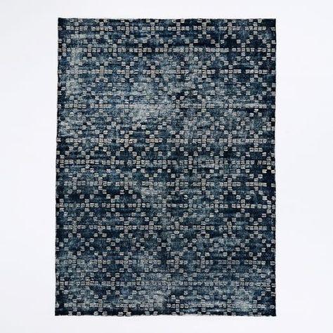 Spray Dyed Geo Wool Rug Rugs Floor Rugs Modern Wool Rugs