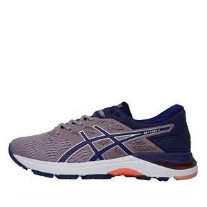 Asics Womens Gel Flux 5 Neutral Running Shoes Violet Blush Dive Blue In 2020 Neutral Running Shoes Cushioned Running Shoes Running Shoes