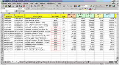 Construction Estimating Construction Take Off Sheets Roof Cost Construction Estimating Software General Construction