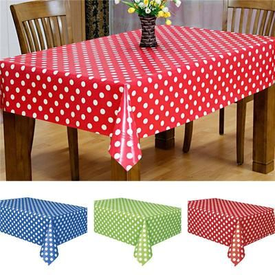 Birthday Party Tablecloth Dots Spot Family Hotel Travel Disposable