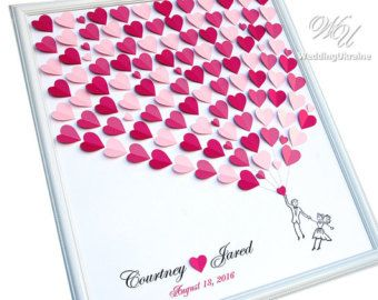 Wedding Guest Book Ideas Silver and Purple by WeddingUkraine