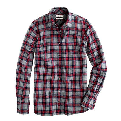 J.Crew boy shirt in grey tartan