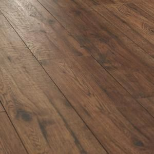 This Distressed Brown Hickory 12 Mm X 6 26 In X 50 78 In Laminate Flooring 15 45 Sq Ft Case From Home Decorato Flooring House Flooring Laminate Flooring