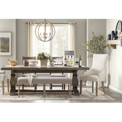 Filkins Extendable Dining Table Solid Wood Dining Table Wood Dining Table Dining Room Design